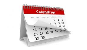 Le calendrier de janvier 2021 est en ligne